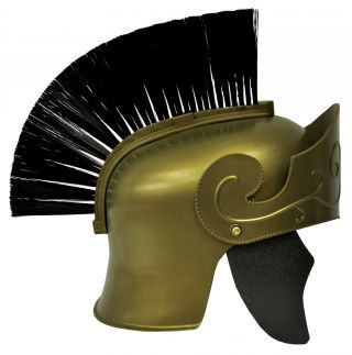 Gold Roman Helmet with Brush