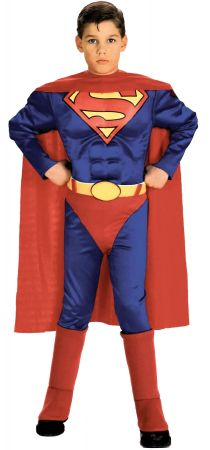 Boy's Deluxe Muscle Chest Superman Costume