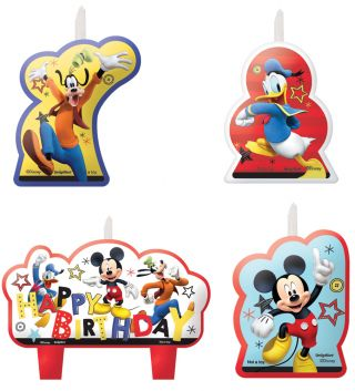 Disney Mickey Candle Set - Pack of 4