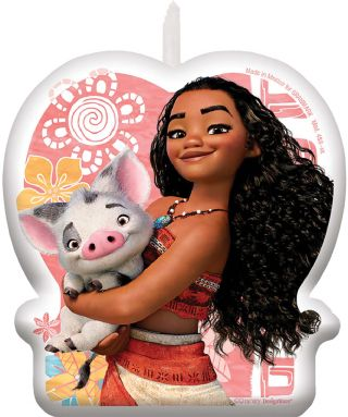 Moana Birthday Candle 1-Count