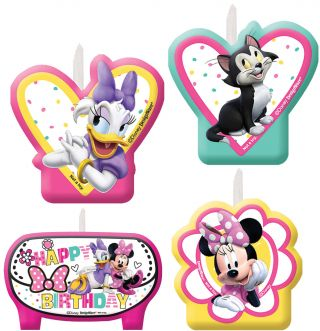 Minnie Helpers Birthday Candle 1-Count