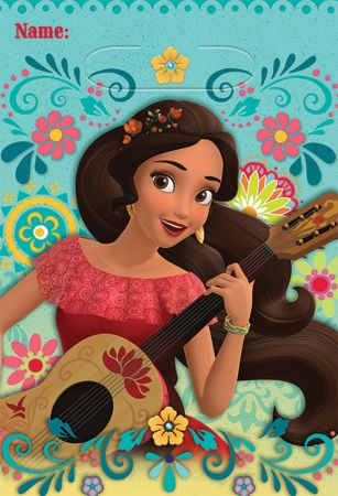 Elena of Avalor Folded Loot Bags - Pack of 8