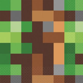 """6.5"""" Minecraft Lunch Napkins - Pack of 16"""