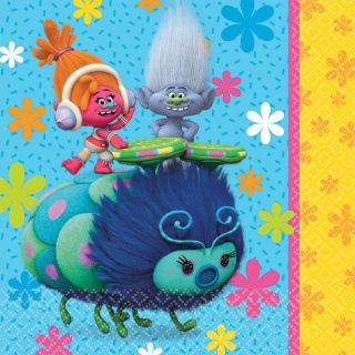 """6.5"""" Trolls Lunch Napkins - Pack of 16"""