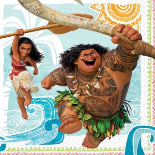 """6.5"""" Moana Lunch Napkins - Pack of 16"""