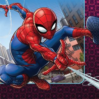 """6.5"""" Spider-Man Lunch Napkins - Pack of 16"""
