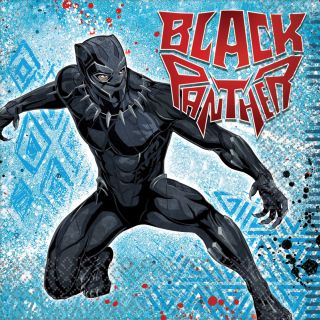 """6.5"""" Black Panther Lunch Napkins - Pack of 16"""