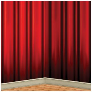Red Curtain Backdrop 4' X 30'