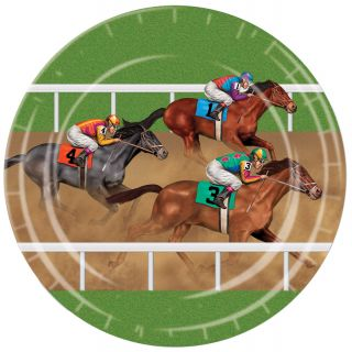 Horse Racing Plates 9in - Pack of 8