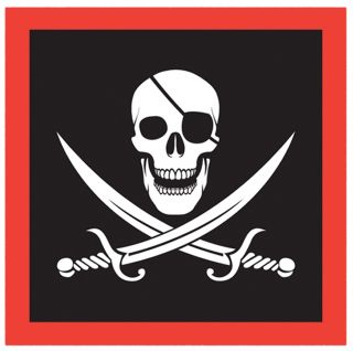 Pirate Napkins - Pack of 16