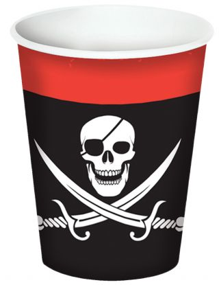 Pirate Beverage Cups 9oz - Pack of 8