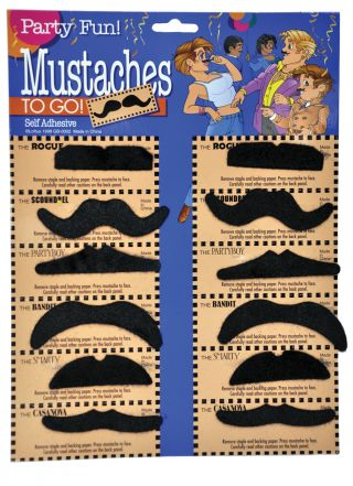 Mustaches - Card of 12