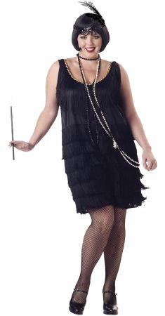 Women's Plus Size Fashion Flapper Costume