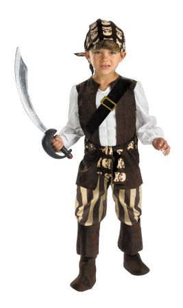 Boy's Rogue Pirate Deluxe Costume