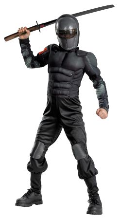 Boy's Snake Eyes Classic Muscle Costume - G.I. Joe Movie