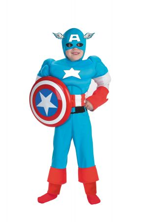 Boy's Captain America Muscle Deluxe Costume