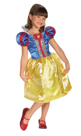Girl's Snow White Sparkle Classic Costume
