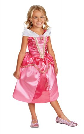 Girl's Aurora Sparkle Classic Costume - Sleeping Beauty