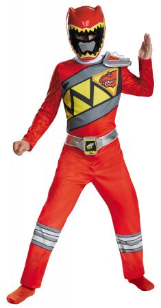 Boy's Red Ranger Classic Costume - Dino Charge