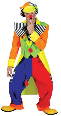 Spanky Stripes Clown Adult Costume