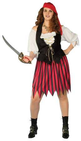 Women's Plus Size Buccaneer Bride Costume