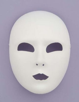 White Full Face Mask