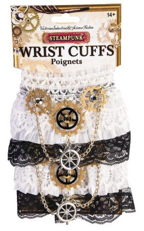 Steampunk Wrist Cuffs Lace