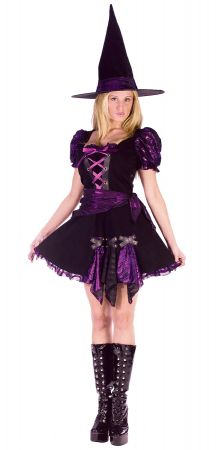 Women's Witch Purple Punk Costume