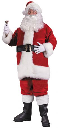 Men's Santa Suit Premium Plush Red