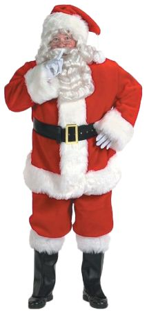 Men's Plus Size Santa Suit Rich Velvet