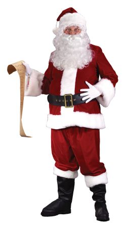 Men's Plus Size Ultra Velvet Santa Suit