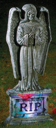 "24"" Tombstone Gothic Light-Up Angel"