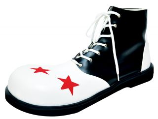 Adult Clown Shoe with Star - Black & White