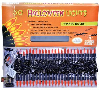 50-Count Halloween Lights with Connector