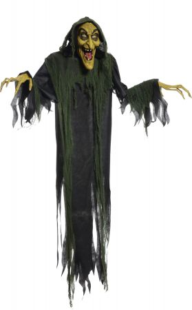 """72"""" Animated Hanging Witch"""