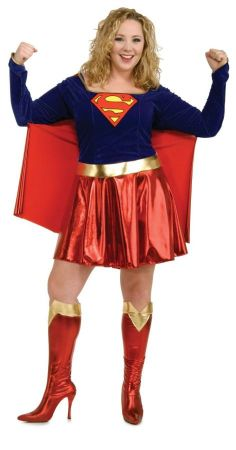 Women's Plus Size Deluxe Supergirl Costume