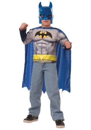 Boy's Batman Muscle Chest Set Costume