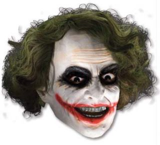 Joker 3/4 Mask with Hair - Dark Knight Trilogy