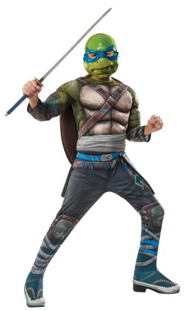 Boy's Deluxe Leonardo Costume - Ninja Turtles