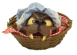 Wolf Head In A Basket