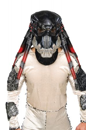 Deluxe Black Predator Overhead Latex Mask - Alien vs. Predator
