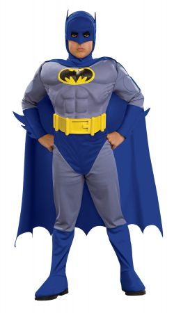 Deluxe Muscle Batman Costume - Brave & the Bold