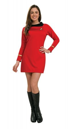 Women's Deluxe Red Star Trek Dress