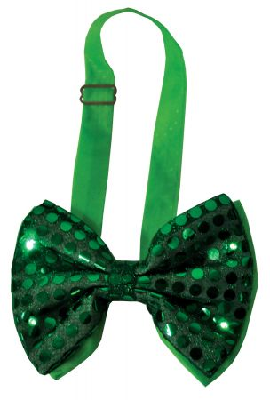 Bow Tie Green Sequin Light-Up