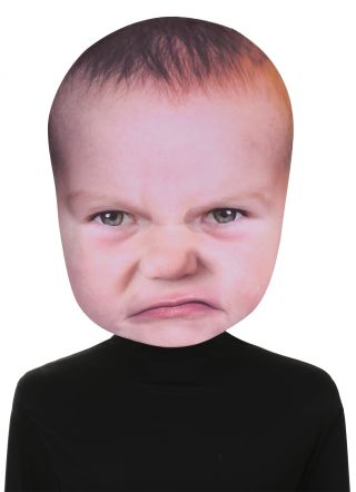 Baby Angry Face Mask