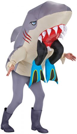 Adult Shark Head with Legs Inflatable Costume