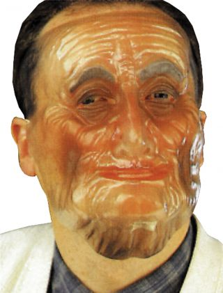 Plastic Old Male Transparent Mask