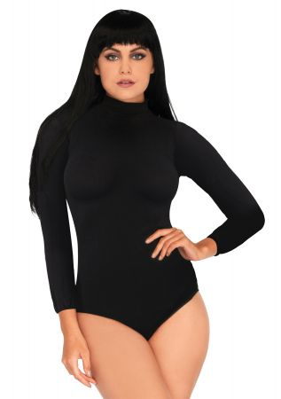 Women's High Neck Bodysuit with Snap Crotch