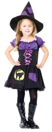 Girl's Black Cat Witch Costume
