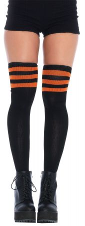 Knit Athletic Striped Thigh-Highs